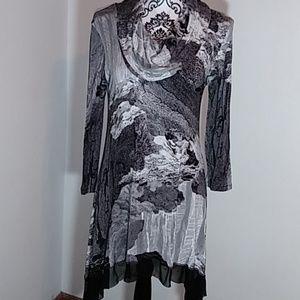 Cable & Gauge Long Sleeve Shirt Dress.